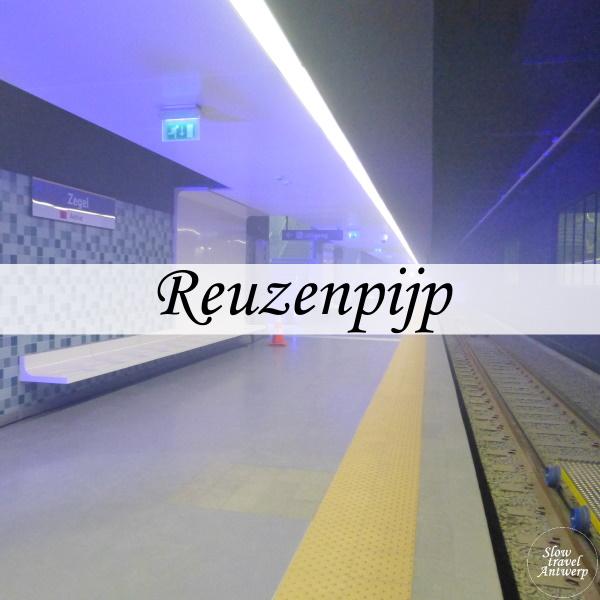 Reuzenpijp metro Antwerpen - titel