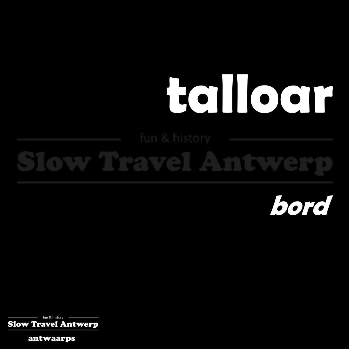 talloar – bord – plate