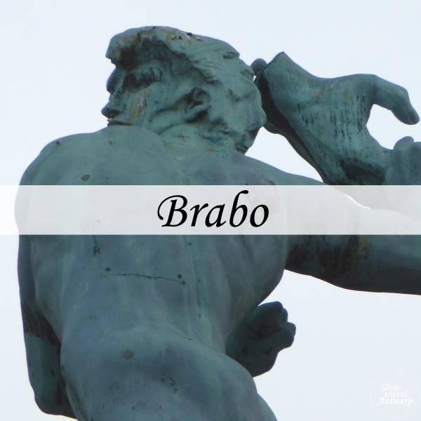 Brabo - fontein Grote Markt Antwerpen - titel