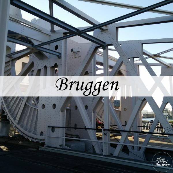 Bruggen in de Antwerpse haven - titel
