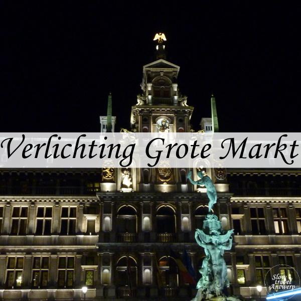 Verlichting Grote Markt Antwerpen - titel