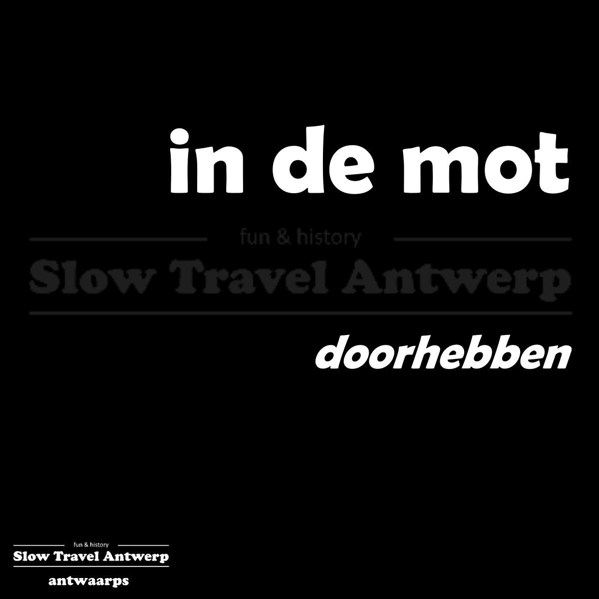 in de mot – doorhebben – to notice