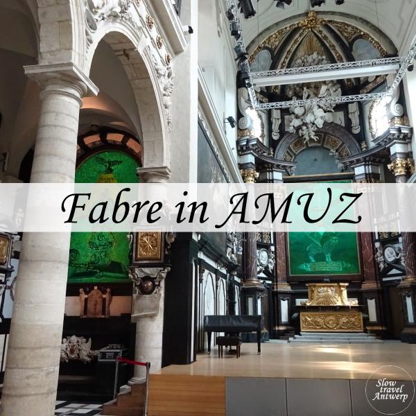 Fabre in AMUZ Antwerpen - titel