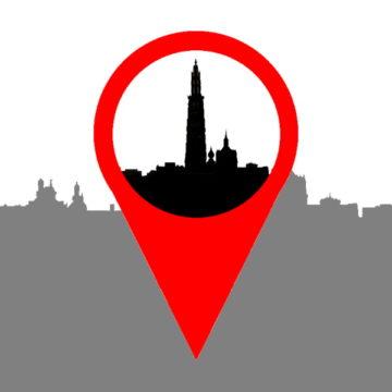 Kaart Antwerpen - titel