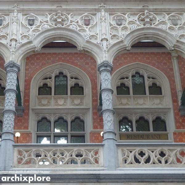 Handelsbeurs Antwerpen door architect Schadde - detail verdieping