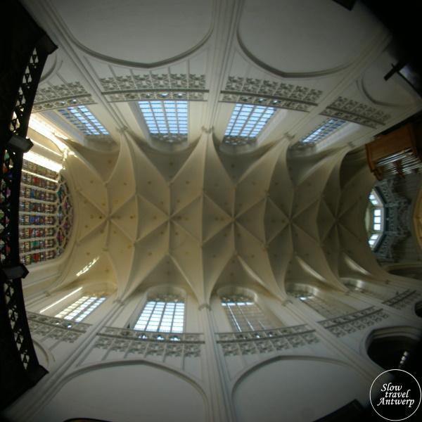 Onze-Lieve-Vrouw Kathedraal Antwerpen - gewelven fish eye effect