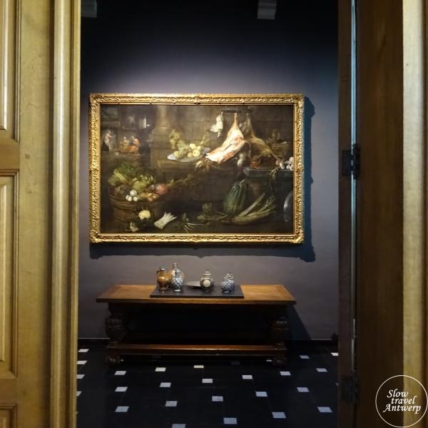 Museum Snijders & Rockoxhuis Antwerpen - doorkijk met stilleven