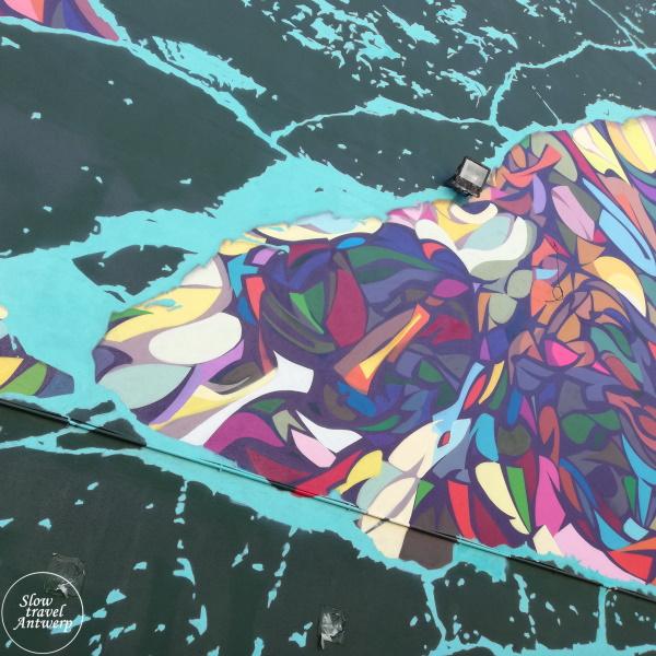 Street Art in Antwerpen - mijn favorieten - Fissures & Flaws - Zentih & Steve Locatelli