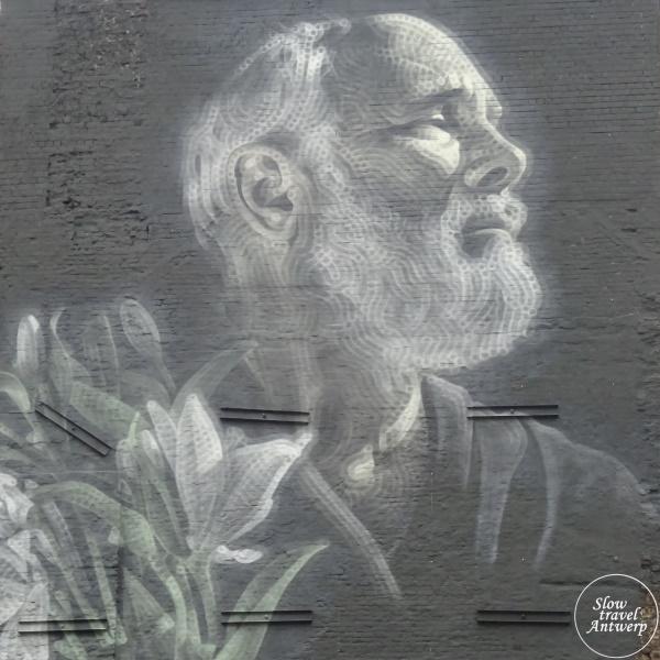 Street Art in Antwerpen - mijn favorieten - Mural for my father - El Mac