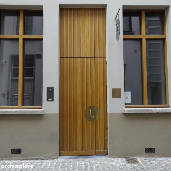 Leeszaal en depot Museum Plantin-Moretus Antwerpen - ingang Heilige Geeststraat