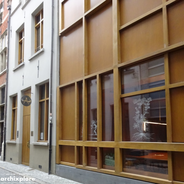 Leeszaal en depot Museum Plantin-Moretus Antwerpen - detail gevel Heilige Geeststraat