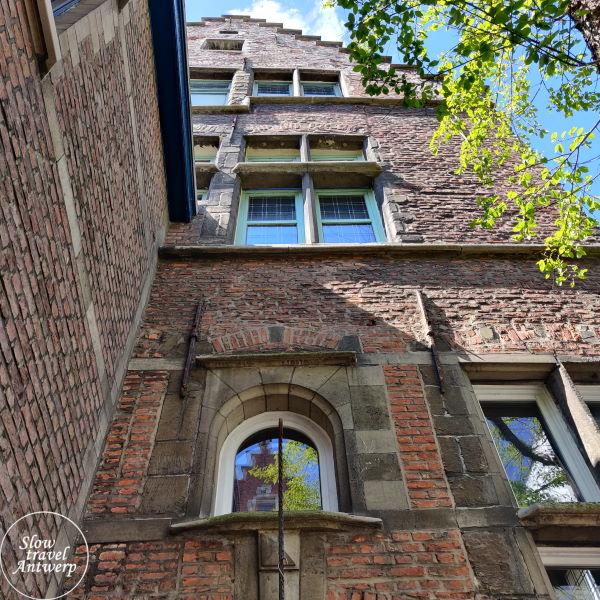 Zilversmidspand en Zilversmidgang Antwerpen - gevel achterhuis